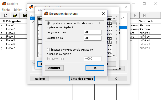 Option de débit
